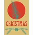 xmas card christmas greeting hand drawn lettering vector image vector image