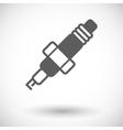 Sparkplug single icon vector image
