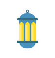 traditional arabic luminous lantern muslim vector image