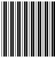 black line stripe on white background vector image