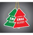 christmas tree badge set vector image