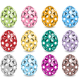 pastel easter eggs vector image