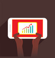 men see growth graph of business vector image