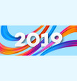 2019 new year acrylic banner design vector image vector image