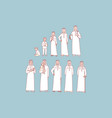 arab mans life cycle set concept vector image