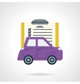 Automobile document flat icon vector image