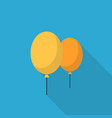 ballon icon set of great flat icons with style vector image