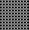 Black white dot pattern design background vector image vector image