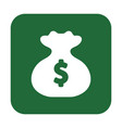 button with the icon of a bag money vector image