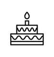 cake icon dessert icon vector image