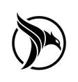 circle eagle creative logo concept vector image vector image
