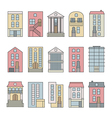 City building skyline constructor set vector image