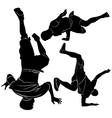 collection breakdance break dance vector image vector image