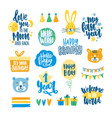 collection of childish lettering written with vector image vector image