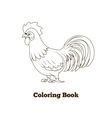 Coloring book rooster cartoon vector image vector image