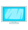Computer display icon cartoon style vector image vector image