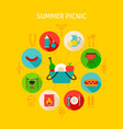concept summer picnic vector image vector image
