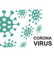 coronavirus concept vector image vector image