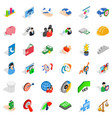 creative work icons set isometric style vector image vector image