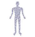 dna spiral human figure vector image vector image