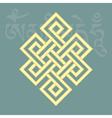 Endless knotone of eight buddhist symbols vector image
