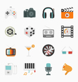 Entertainment Icons with White Background vector image