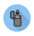 fire lighter icon on white background vector image vector image