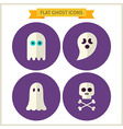 Flat Spirit Ghost Website Icons Set vector image vector image