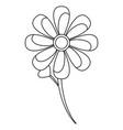flower stem leaves bloom floral ornament image vector image vector image