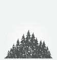 forest landscape3 vector image vector image