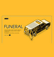 funeral service isometric web banner vector image vector image