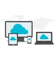 General cloud storage on different devices vector image vector image
