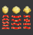 gold coats arms with ribbons decoration vector image vector image