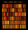 golden cooper bronze colors gradients collection vector image