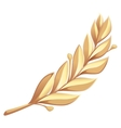 Golden laurel branch vector image