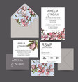 invitation for wedding card vector image vector image