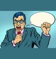 man politician swears vector image