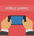 mobile gaming vector image vector image