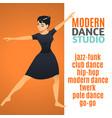 modern dance studio template vector image vector image