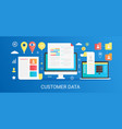 modern flat gradient customer data concept vector image vector image