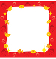Monkey With Chinese New Year Border vector image