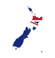 new zealand country silhouette with flag on vector image vector image