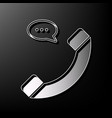phone with speech bubble sign gray 3d vector image vector image