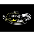 Pike fishing club vector image vector image