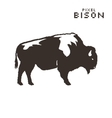 pixel art bison on a white background vector image vector image