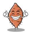 proud face yam character cartoon style vector image vector image