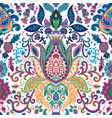 psychedelic floral pattern with lotus and flowers vector image vector image
