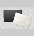 realistic 3d envelope post letter cover vector image vector image