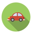 Red car icon flat style vector image vector image
