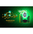 religious green color eid background design with vector image